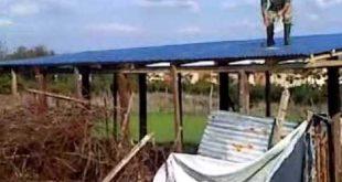 Κτηνοτρόφος της περιοχής Φαρκαδόνας έκοψε στύλους της ΔΕΗ για να φτιάξει στάβλο!!!