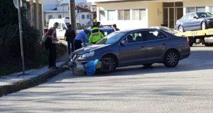 Τραυματισμός δικυκλιστή σε τροχαίο σε κόμβο των Τρικάλων