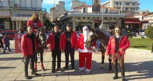 Ο Άγιος Βασίλης του Βουκεφάλα στην κεντρική πλατεία