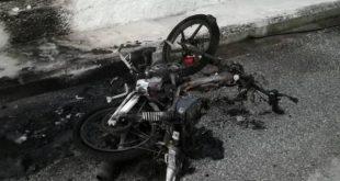 Ομολόγησαν οι δράστες... τον εμπρησμό μοτοποδηλάτου Αστυνομικού