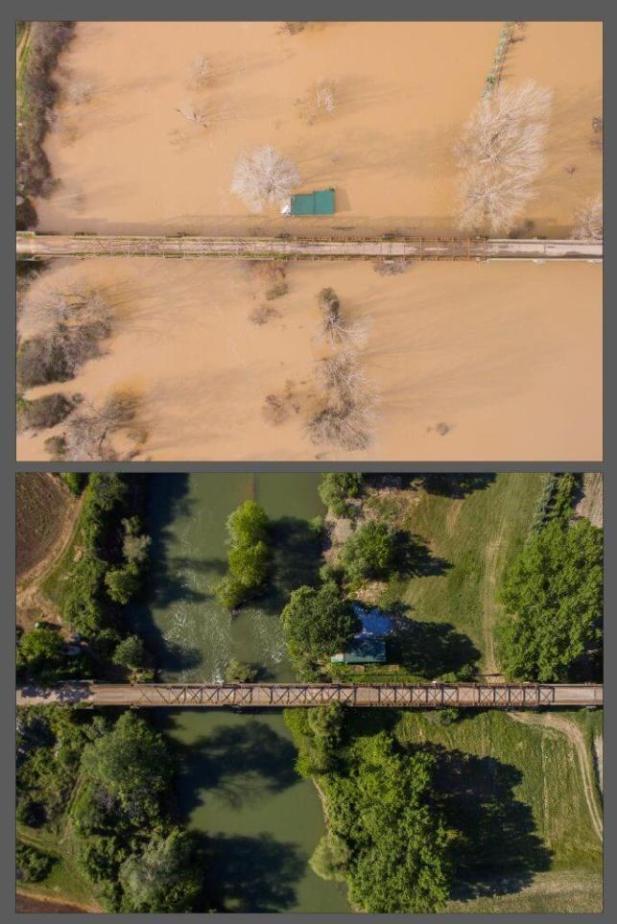 Μοναδικές εικόνες μέσω Drone από τη Φαρκαδόνα των πλημμυρών και της ανομβρίας