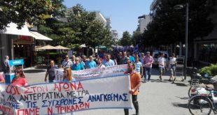 Δυναμική συμμετοχή στην απεργία από το ΠΑΜΕ στα Τρίκαλα