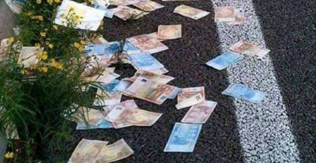 Δεκάδες χαρτονομίσματα σκορπίστηκαν στην Εθνική Οδό στο Αγρίνιο