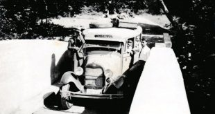 Το προπολεμικό λεωφορείο που εκτελούσε το δρομολόγιο από την Καλαμπάκα προς την Καστανιά
