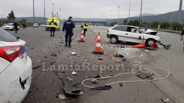 Άγρια καταδίωξη στην Εθνική Οδό Αθηνών - Λαμίας με ένα νεκρό