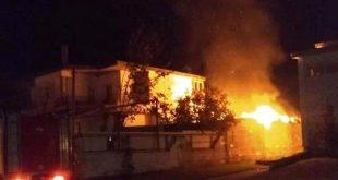 Στις φλόγες σπίτι στο Μεγαλοχώρι