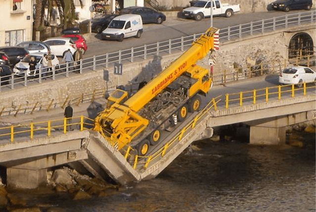 Κατέρρευσε γέφυρα στην Καβάλα!!!
