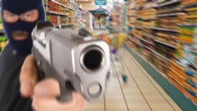 Ληστεία με πυροβολισμούς σε σούπερ μάρκετ!!!