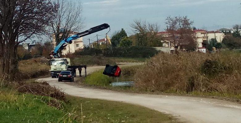 """Αυτοκίνητο """"βρέθηκε"""" στον Αγιαμονιώτη ποταμό στα Τρίκαλα"""