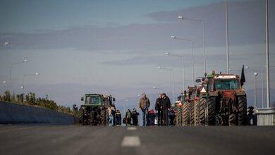 «Μπλόκο» στον Ε-65 λόγω των αγροτικών κινητοποιήσεων