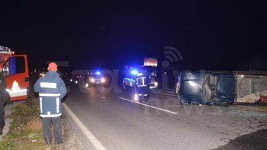 Σφοδρή σύγκρουση οχημάτων στην Ε.Ο. Καλαμπάκας – Τρικάλων