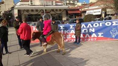 Τα άλογα του «Βουκεφάλα» στην κεντρική πλατεία Τρικάλων