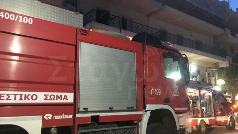 Φωτιά σε διαμέρισμα στο κέντρο της Καλαμπάκας!