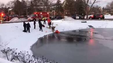 Καρέ-καρέ η διάσωση 11χρονου από παγωμένη λίμνη