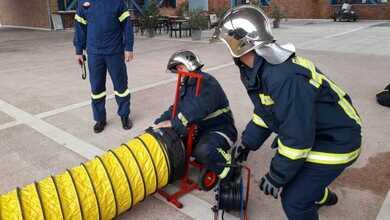 """Άσκηση της Πυροσβεστικής με σενάριο """"Φωτιά στο ΚΤΕΛ Τρικάλων"""""""