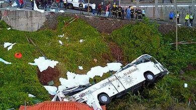 Τραγωδία στην Πορτογαλία - Η στιγμή της πτώσης του λεωφορείου