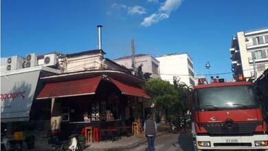 Φωτιά σε ψησταριά στο κέντρο των Τρικάλων