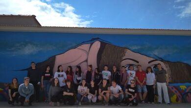 Το εντυπωσιακό graffiti από τους μαθητές του ΓΕΛ Καλαμπάκας!