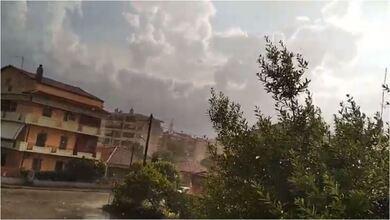 Ήλιος και καταιγίδα στα Τρίκαλα!!!