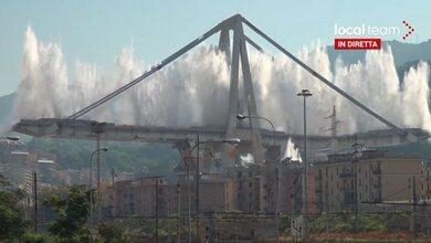 Εντυπωσιακή κατεδάφιση γέφυρας στη Γένοβα