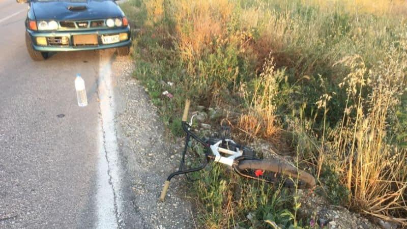 Αυτοκίνητο παρέσυρε 17χρονο ποδηλάτη στην Καλαμπάκα
