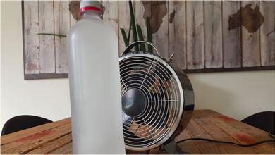 Φτιάξτε απλά το δικό σας κλιματιστικό με έναν ανεμιστήρα.