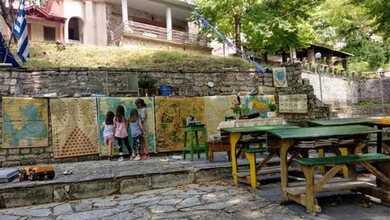 Ένα όμορφο υπαίθριο θερινό σχολείο στήθηκε στην Πολυθέα