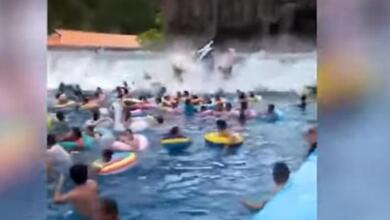 Τσουνάμι σε water park «σάρωσε» τους πάντες!