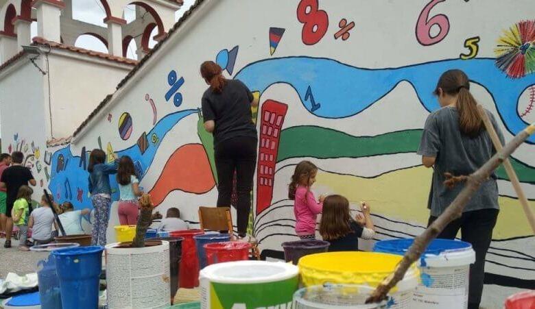 Χρώμα στα σχολεία των χωριών!