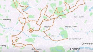 Photo of Έκανε 9 ώρες ποδήλατο για να σχεδιάσει έναν τάρανδο στον χάρτη