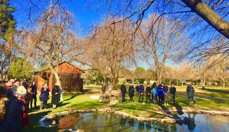Ο Αγιασμός των υδάτων στο πάρκο του Αϊ Γιώργη