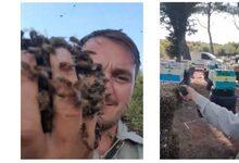 Photo of Ο μελισσοκόμος που έγινε viral παίζοντας με χιλιάδες μέλισσες | ΒΙΝΤΕΟ